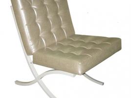 Кресло для посетителей м117-031 без пуговиц на спинке и сиденье