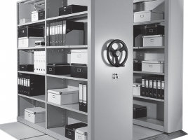 Мобильный архив (система мобильных и стационарных стеллажей)