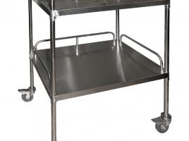 Столик для процедурного кабинета SH-T009 2х полочный с бортиками